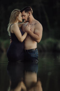 photo couple dans un lac montpellier