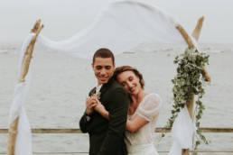 se marier en hiver au bord de l'océan