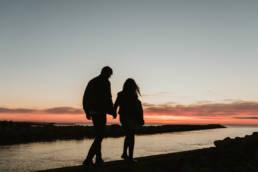 photo couple lever du soleil palavas les flots