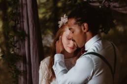 mariage dans les bois, forêt dans les Cévennes