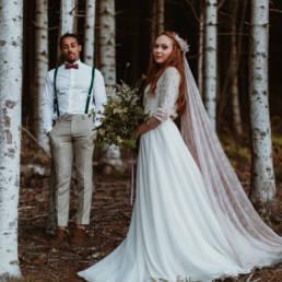 se marier dans les bois dans une forêt